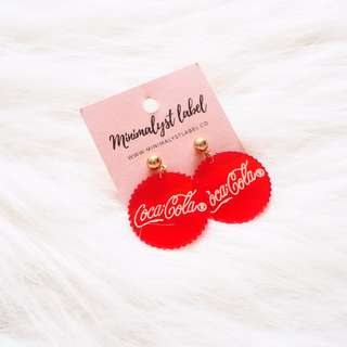 *instocks* 90s Coca Cola Earrings