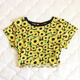 Cute Sunflower Crop Tee