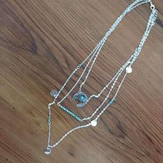 Multi layer boho necklace