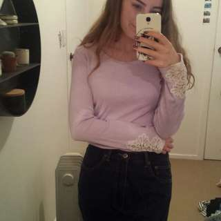 LILAC LACE LONG SLEEVE