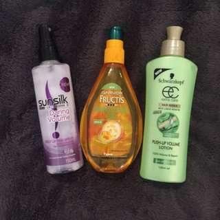 Hair Care Products Garnier, Sunsilk & Schwarzkopf