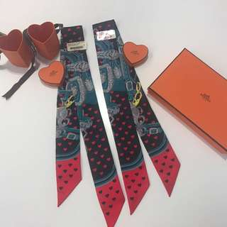 Hermes 心心 twilly limited edition