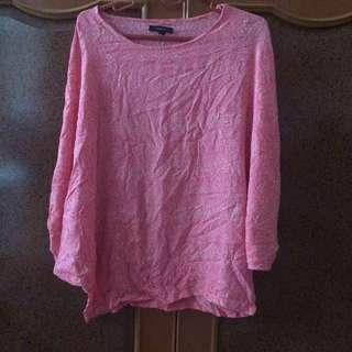 PINK BATWING FIT TO L