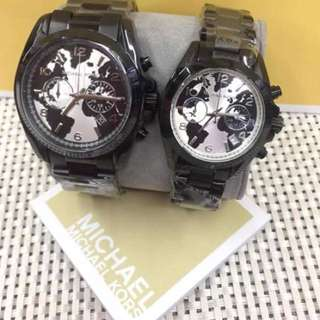 MICHAEL KORS COUPLE WATCH BLACK