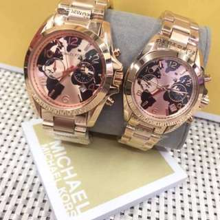 MICHAEL KORS COUPLE WATCH ROSEGOLD
