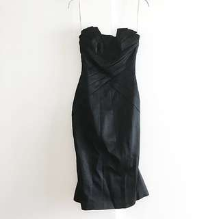 Karen Millen Evening Black Tie Satin Dress