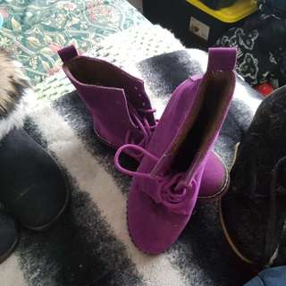 Purple boot