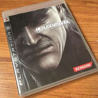 PS3 Game Metal Gear Solid 4 Guns of The Patriots