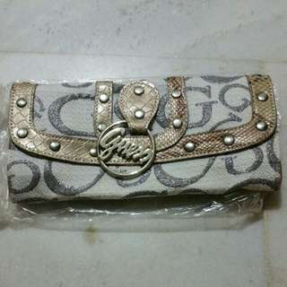 guess multi purse wallet clutch with handles...
