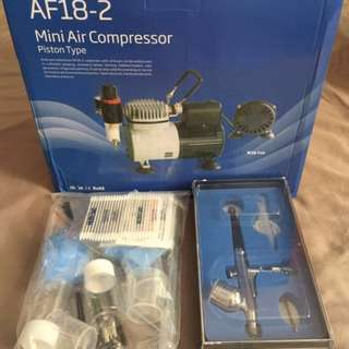 [Combo 1] Professional Air Compressor Set W/ 0.3 Airbrush