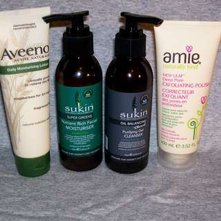 Sukin, Aveeno & Amie Skin Products New