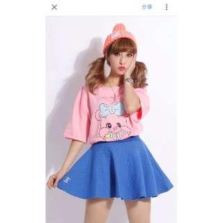 (全新)Major 藍色褲裙