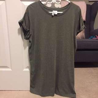 Forever 21 tshirt dress. Olive green colour
