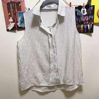直條背心式襯衫🆓免運費