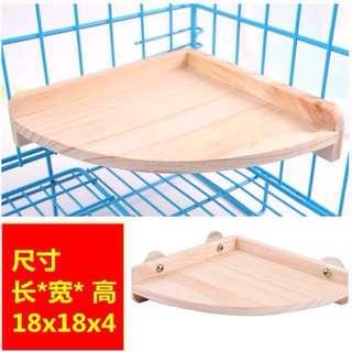 [INSTOCK] Hamster Chinchilla Wooden Fan Platform