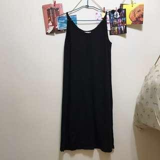 黑色背心式洋裝🆓免運費