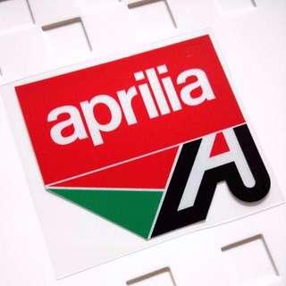 Aprilia Racing Logo Helmet Motorbike Decal Sticker