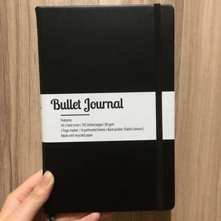 [INSTOCK] A5 Notebook: Dotted | Bullet Journal (Black) | Gift Ideas