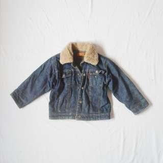 Kids Denim Cotton-on Fur jacket