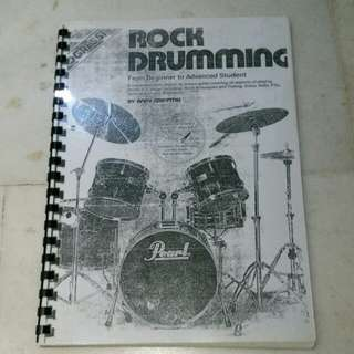 rock drumming textbook for beginner to the advanced student...