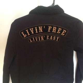 Living free living easy jean jacket