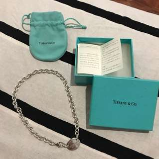 Authentic Tiffany please return to necklace