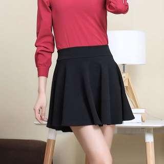 INSTOCK Black Skater Skirt