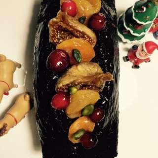 黑巧克力果乾白蘭地磅蛋糕