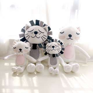 Cute Pastel Color Cat Lion pink pillow cushion Toy Doll Birthday Gift