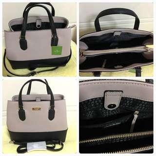 Kate Spade Laurel Way Evangelie WKRU4295 leather satchel cross-body bag