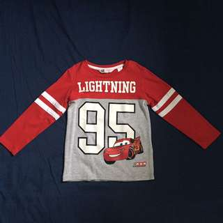 authentic H&M lightning mcqueen designed long sleeve shirt
