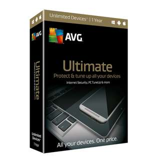 AVG Ultimate 2017 for unlimited devices 1 year - Genuine Sales Number License