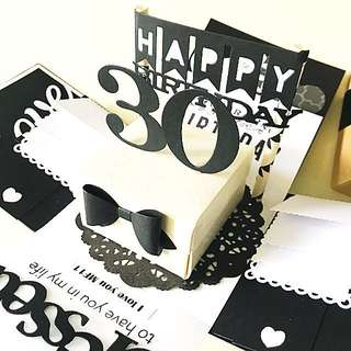 Happy 30 Birthday Explosion Box Card