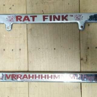 Rat Fink frame plate