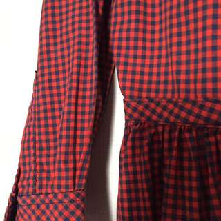 LEVIS Red Checkered Dress