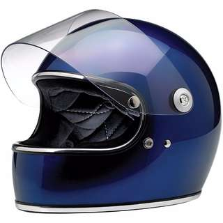 Biltwell Gringo S Adult Full Face Motorcycle Motorbike Cafe Racer Helmet (Beautiful Gloss Metallic Navy Blue, Small and Medium) (D.O.T Certified) Cafe Racer Helmet Medium $309