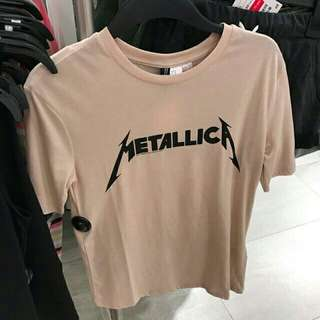 H&m metallica tee sale