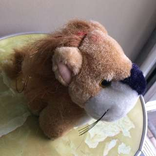 Baby lion hanging stuffed toy