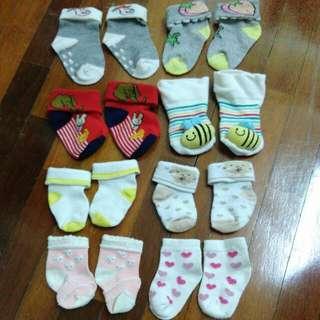 Newborn baby socks 8 pairs