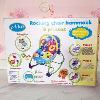 PLIKO ROCKING CHAIR HAMMOCK - bouncer bayi baby