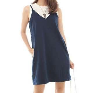 ACW Pocket Slip Dress in Washed Denim