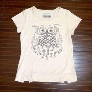 Peachy owl shirt