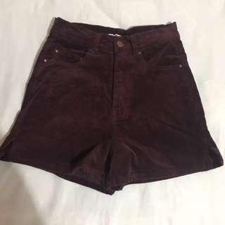 Burgundy Supre Shorts (Size 4)
