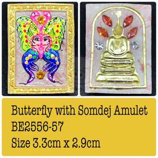 Butterfly With somdej Amulet