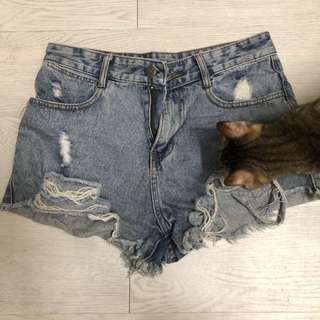 牛仔短褲(L)