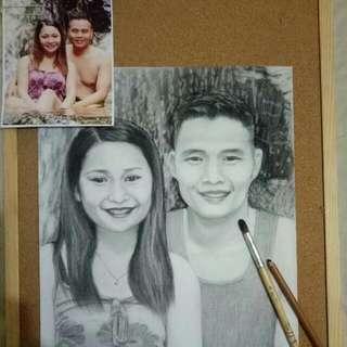 Artist Sketch Charcoal Portrait