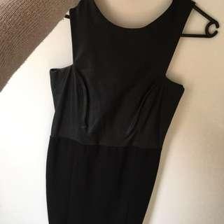 Zara leather dress midi fitted