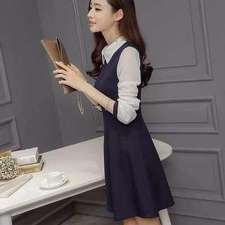 PO | sheer sleeved babydoll shift dress