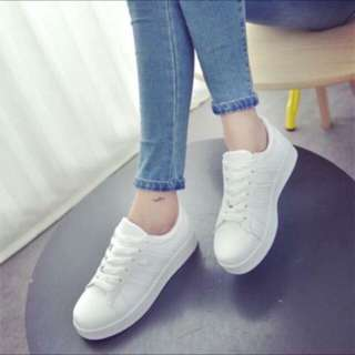 White rubber shoes