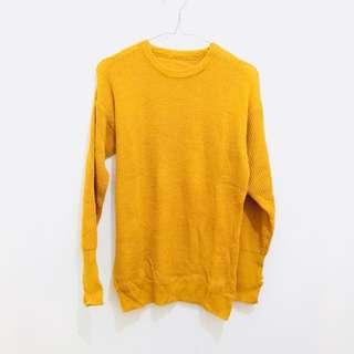 Knit Sweater Mustard